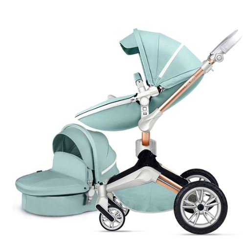 Hot Mom® Baby Pram – 2 in 1 Bassinet + Pram Set