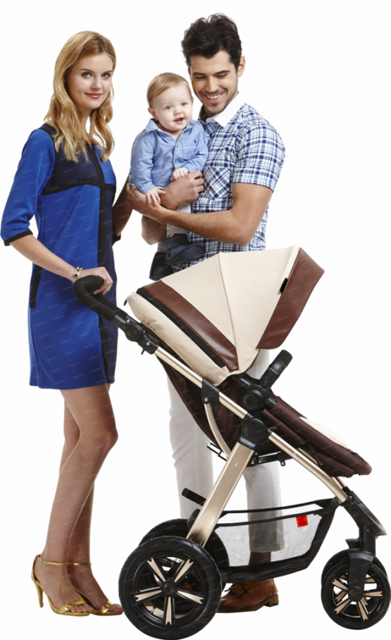 Strong aluminium 2 in 1 stroller for new born to 3years