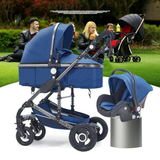 Baby stroller with push chair and car seat