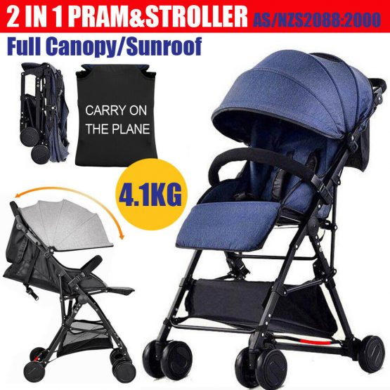 Feather light baby stroller, sunroof
