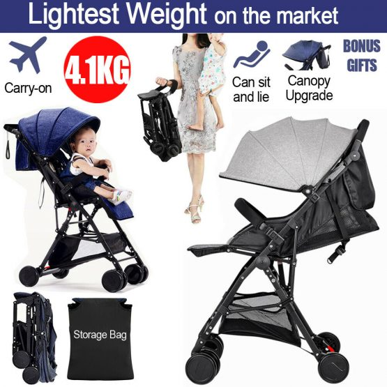 Compact baby stroller, high landscape