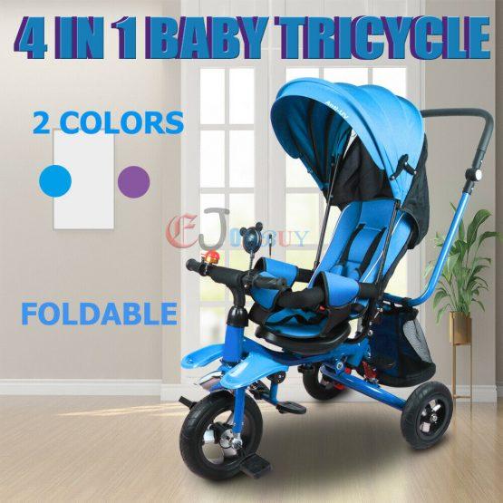 4 in 1 Pram cum toddler tricycle