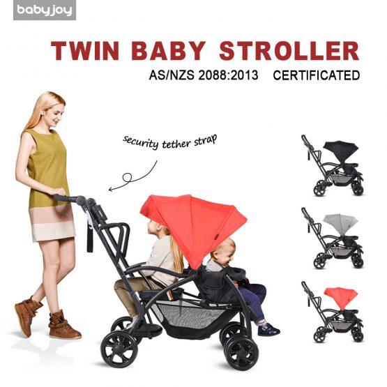 2in1 Double Pram Stroller