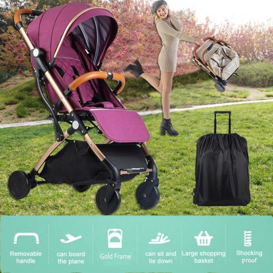 Foldable, Feather light pram wth canopy