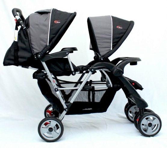 Double pram stroller for twins/2 kids