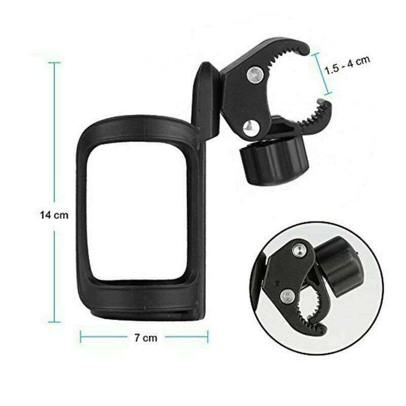 Cycling Bicycle Stroller Baby Milk Bottle Drink Water Cup Holder Mount Black