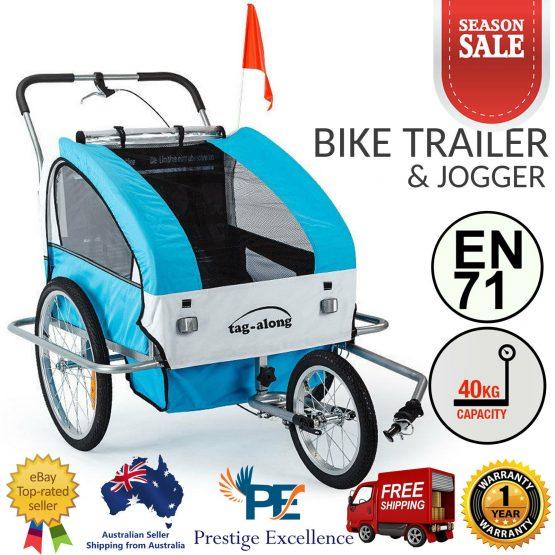Tag along trailer cum stroller for 2 kids